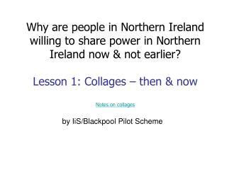 by IiS/Blackpool Pilot Scheme