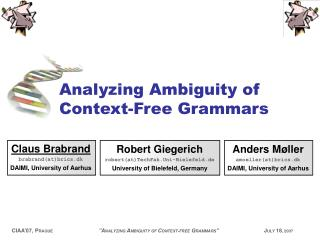 Analyzing Ambiguity of Context-Free Grammars