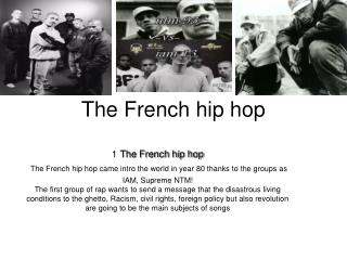 The French hip hop