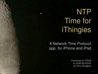 NTP Time for iThingies