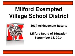 Milford Exempted  Village School District