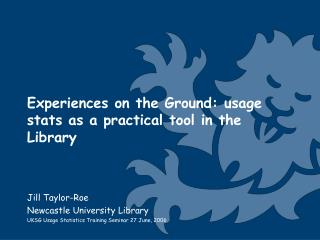Experiences on the Ground: usage stats as a practical tool in the Library