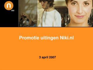 Promotie uitingen Niki.nl