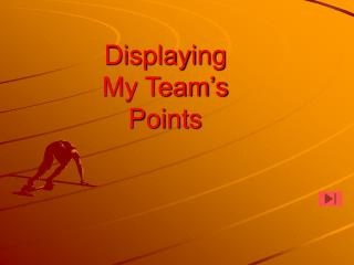 Displaying My Team's Points