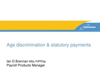 Age discrimination & statutory payments
