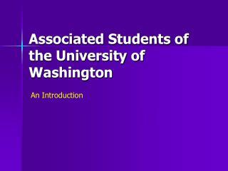 Associated Students of the University of Washington