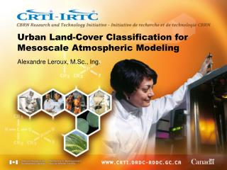 Urban Land-Cover Classification for Mesoscale Atmospheric Modeling