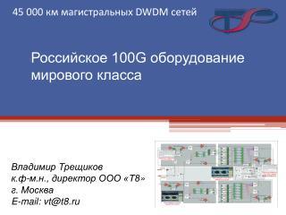 Российское 100G оборудование мирового класса