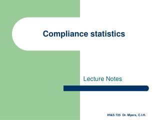 Compliance statistics