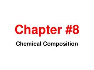 Chapter #8