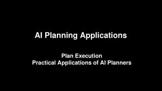 AI Planning Applications