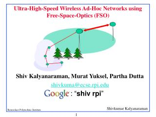 Ultra-High-Speed Wireless Ad-Hoc Networks using Free-Space-Optics (FSO)