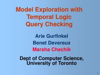 Model Exploration with  Temporal Logic  Query Checking