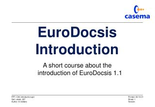 EuroDocsis Introduction