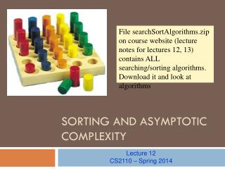 Sorting and Asymptotic Complexity