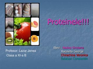 Proteinele!!!