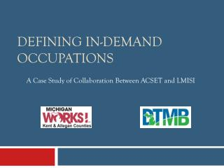 Defining In-Demand Occupations