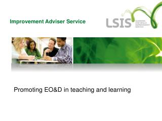 Promoting EO&D in teaching and learning