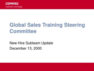 Global Sales Training Steering Committee