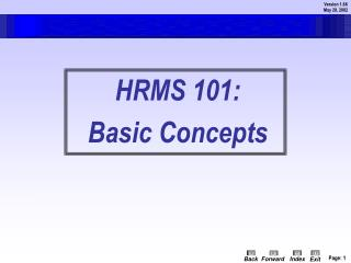 HRMS 101: Basic Concepts