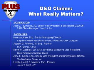 D&O Claims: What Really Matters?