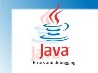 Errors and debugging