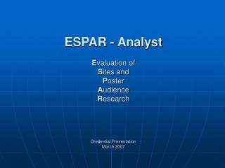ESPAR-Analyst
