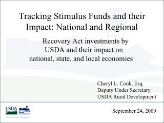 Tracking Stimulus Funds and their Impact: National and Regional