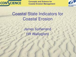 Coastal State Indicators for Coastal Erosion