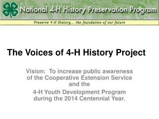 The Voices of 4-H History Project