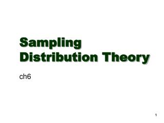Sampling Distribution Theory