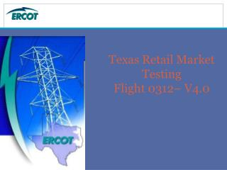 Texas Retail Market Testing Flight 0312– V4.0