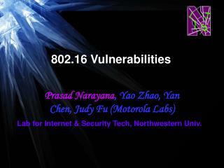 802.16 Vulnerabilities
