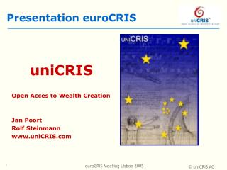 Presentation euroCRIS