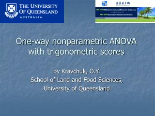 One-way nonparametric ANOVA with trigonometric scores