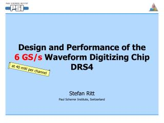 Design and Performance of the  6 GS/s  Waveform Digitizing Chip DRS4
