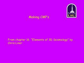 Making CMP's