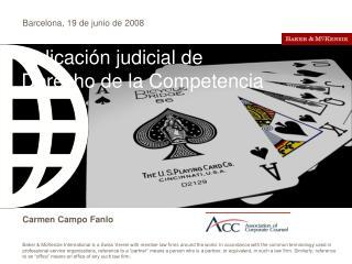Aplicación judicial de Derecho de la Competencia