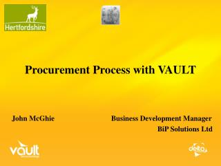 Procurement Process with VAULT