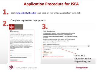 Application Procedure for JSEA