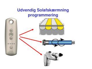 Udvendig Solafskærmning programmering