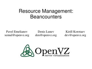 Resource Management: Beancounters