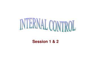 Session 1 & 2