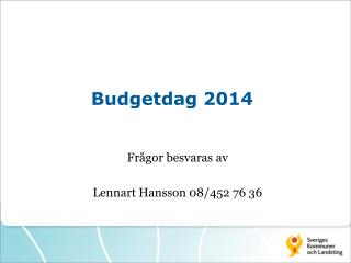 Budgetdag 2014