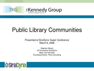 Public Library Communities