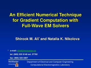 An Efficient Numerical Technique for Gradient Computation with Full-Wave EM Solvers