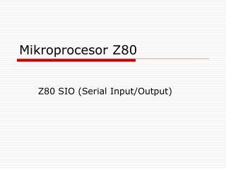 Mikroprocesor Z80