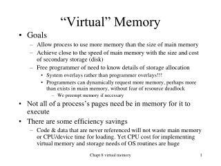 """Virtual"" Memory"