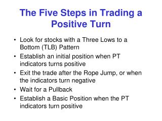 The Five Steps in Trading a Positive Turn