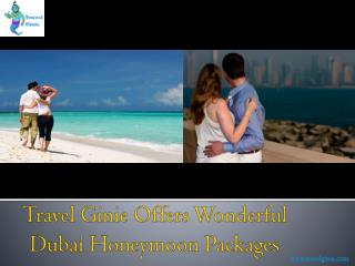 Travel Ginie Offers Wonderful Dubai Honeymoon Packages